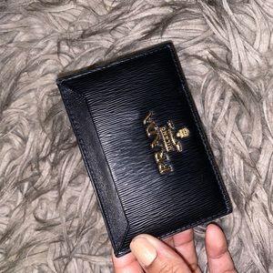 AUTHENTIC Leather Prada card holder